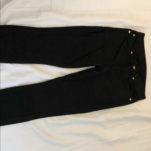 7 For All Man Kind Black Skinny Jeans